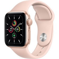 Apple Watch SE 40mm Gold Aluminum Case with Pink Sand Sport Band (MYDN2RU)