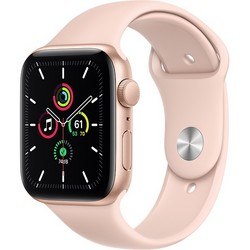 Apple Watch SE 44mm Gold Aluminum Case with Pink Sand Sport Band (MYDR2RU)