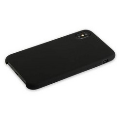 "Накладка силиконовая MItrifON для iPhone XS/ X (5.8"") без логотипа Black Черный №18"