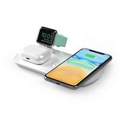 Беспроводное зарядное устройство Deppa 3в1 (D-24010) для Apple iPhone/ Watch (1-5ser)/ Air Pods 17.5W Белый