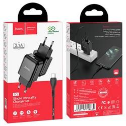 Адаптер питания Hoco N2 Vigour single port charger с кабелем Type-C (USB: 5V max 2.1A) Черный