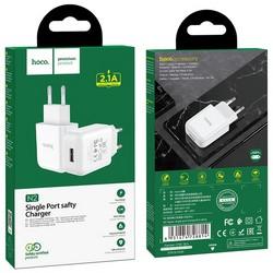 Адаптер питания Hoco N2 Vigour single port charger Apple&Android (USB: 5V max 2.1A) Белый