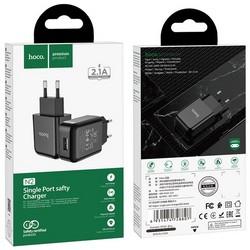 Адаптер питания Hoco N2 Vigour single port charger Apple&Android (USB: 5V max 2.1A) Черный