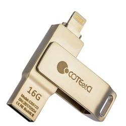 Флеш-накопитель COTEetCI U2 Civilian Version iUSB (CS5123-16G) с разъемом Lightning для iOS, Mac/ PC 16 Gb Серебристый