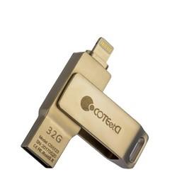 Флеш-накопитель COTEetCI U2 Civilian Version iUSB (CS5123-32G) с разъемом Lightning для iOS, Mac/ PC 32 Gb Серебристый