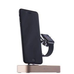 Док-станция&USB-концентратор COTEetCI Base (B18)MFI для Apple Watch & iPhone X/ 8 Plus/ 8 2in1 stand (CS7200-CEG) Золотистая