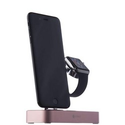Док-станция&USB-концентратор COTEetCI Base (B18)MFI для Apple Watch & iPhone X/ 8 Plus 2in1 stand (CS7200-MRG) Розовое золото
