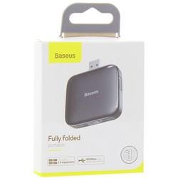 Переходник Baseus Fully folded portable 4-in-1 USB HUB (CAHUB-CW01) USB to USB2.0x4 Черный