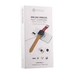 Беспроводное зарядное устройство MINI 2в1 COTEetCI WS-17 (10W) для Apple iPhone и Watch (CS5168-BK) Черный