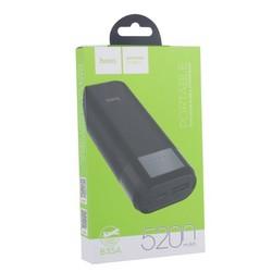 Аккумулятор внешний универсальный Hoco B35A-5200 mAh Entourage mobile Power bank (USB: 5V-1.0A) Black Черный