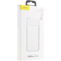 "Аккумулятор-чехол внешний Baseus Liquid Silica Gel Power Bank Case 4200 mAh (ACAPIPH65-BJO2) для iPhone XS Max (6.5"") Белый"