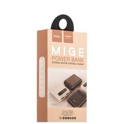 Аккумулятор внешний универсальный Hoco B20-10000 mAh Mige Power Bank (2USB: 5V-2.1A) White Белый