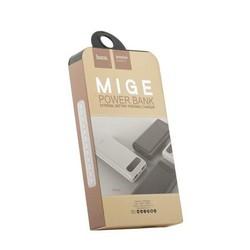 Аккумулятор внешний универсальный Hoco B20A-20000 mAh Mige Power Bank (USB: 5V-2.1A) White Белый