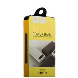 Аккумулятор внешний универсальный Hoco B20A-20000 mAh Mige Power Bank (USB: 5V-2.1A) Black Черный