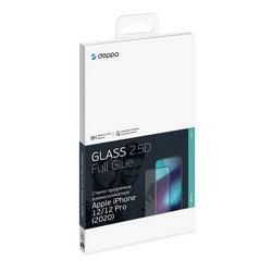 """Стекло защитное Deppa 2,5D Classic Full Glue D-62704 для iPhone 12/12 Pro (6.1"""") 0.3mm Прозрачное"""
