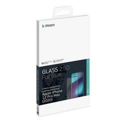"""Стекло защитное Deppa 2,5D Classic Full Glue D-62705 для iPhone 12 Pro Max (6.7"""") 0.3mm Прозрачное"""