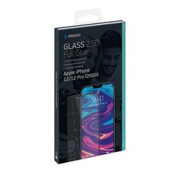 "Стекло защитное Deppa 2,5D Full Glue D-62701 для iPhone 12/12 Pro (6.1"") 0.3mm Black"