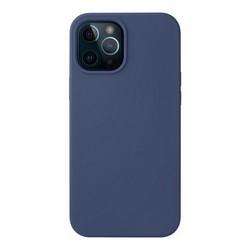 """Чехол-накладка силикон Deppa Liquid Silicone Case D-87717 для iPhone 12 Pro Max (6.7"""") 1.7мм Синий"""