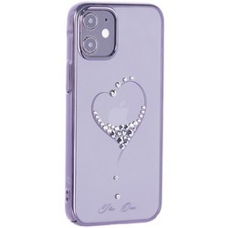 "Чехол-накладка KINGXBAR для iPhone 12/ 12 Pro (6.1"") пластик со стразами Swarovski черный (The One)"