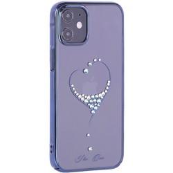 """Чехол-накладка KINGXBAR для iPhone 12/ 12 Pro (6.1"""") пластик со стразами Swarovski синий (The One)"""