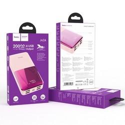Аккумулятор внешний универсальный Hoco J42A 20000 mAh High power mobile power bank (4USB:5V-2.0A Max) Розовый