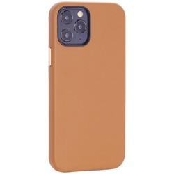 """Чехол-накладка кожаный TOTU Emperor Series Leather Case для iPhone 12/ 12 Pro 2020 (6.1"""") Коричневый"""