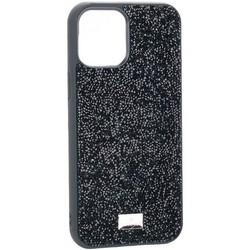 """Чехол-накладка силиконовая со стразами SWAROVSKI Crystalline для iPhone 12 Pro Max (6.7"""") Темно-зеленый №4"""