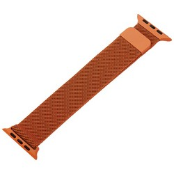 Ремешок из нержавеющей стали MAGNET Band для Apple Watch 44мм/ 42мм Оранжевый