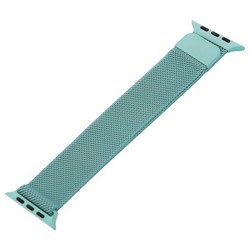 Ремешок из нержавеющей стали MAGNET Band для Apple Watch 44мм/ 42мм Светло-бирюзовый