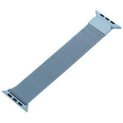 Ремешок из нержавеющей стали MAGNET Band для Apple Watch 44мм/ 42мм Голубой