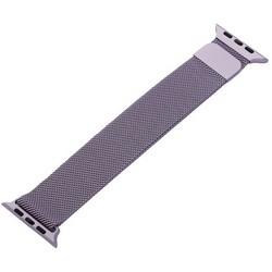 Ремешок из нержавеющей стали MAGNET Band для Apple Watch 44мм/ 42мм Сиреневый