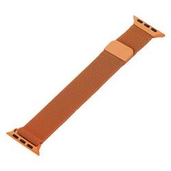 Ремешок из нержавеющей стали MAGNET Band для Apple Watch 40мм/ 38мм Оранжевый