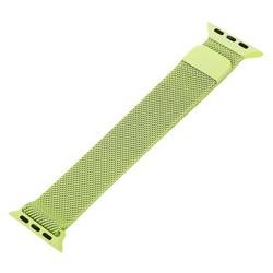 Ремешок из нержавеющей стали MAGNET Band для Apple Watch 40мм/ 38мм Салатовый