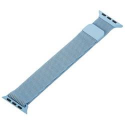 Ремешок из нержавеющей стали MAGNET Band для Apple Watch 40мм/ 38мм Голубой