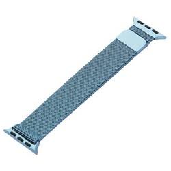 Ремешок из нержавеющей стали MAGNET Band для Apple Watch 40мм/ 38мм Темно-голубой