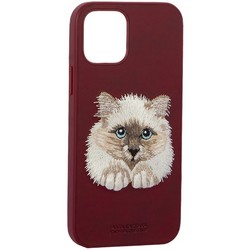 "Накладка кожаная Santa Barbara Polo&Racquet Club SAV Series для iPhone 12/ 12 Pro (6.1"") Cat-кот"