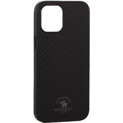 "Накладка кожаная Santa Barbara Polo&Racquet Club Knight Series для iPhone 12 Pro Max (6.7"") Черная"