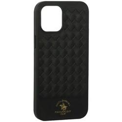 "Накладка кожаная Santa Barbara Polo&Racquet Club Ravel Series для iPhone 12 Pro Max (6.7"") Зеленая"
