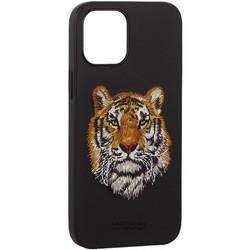 "Накладка кожаная Santa Barbara Polo&Racquet Club SAV Series для iPhone 12 Pro Max (6.7"") Tiger-тигр"