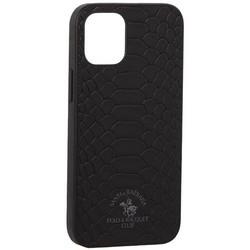"Накладка кожаная Santa Barbara Polo&Racquet Club Knight Series для iPhone 12 mini (5.4"") Черная"