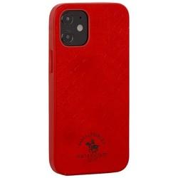 "Накладка кожаная Santa Barbara Polo&Racquet Club Knight Series для iPhone 12 mini (5.4"") Красная"