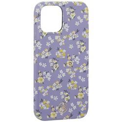 """Чехол-накладка KINGXBAR для iPhone 12 Pro Max (6.7"""") пластик со стразами Swarovski (Цветочная серия №4)"""
