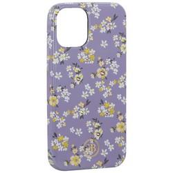 """Чехол-накладка KINGXBAR для iPhone 12 mini (5.4"""") пластик со стразами Swarovski (Цветочная серия №4)"""
