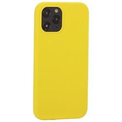 "Накладка силиконовая MItrifON для iPhone 12 Pro Max (6.7"") без логотипа Yellow Желтый №55"