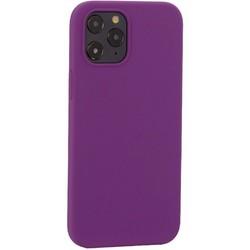 """Накладка силиконовая MItrifON для iPhone 12 Pro Max (6.7"""") без логотипа Violet Фиолетовый №45"""