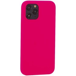 "Накладка силиконовая MItrifON для iPhone 12 Pro Max (6.7"") без логотипа Bright pink Ярко-розовый №47"