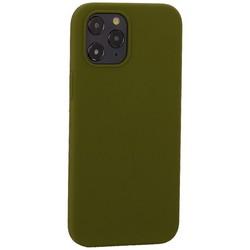 """Накладка силиконовая MItrifON для iPhone 12 Pro Max (6.7"""") без логотипа Marsh Болотный №48"""
