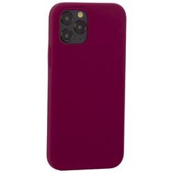 """Накладка силиконовая MItrifON для iPhone 12/ 12 Pro (6.1"""") без логотипа Maroon Бордовый №52"""
