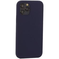"""Накладка силиконовая MItrifON для iPhone 12/ 12 Pro (6.1"""") без логотипа Midnight Blue Темно-синий №8"""
