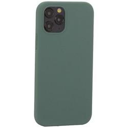 "Накладка силиконовая MItrifON для iPhone 12/ 12 Pro (6.1"") без логотипа Pine Green Бриллиантово-зеленый № 58"